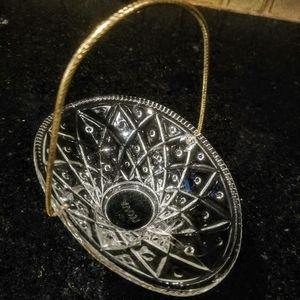 Vintage Avon Glass Basket With Handle